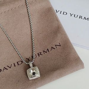 David Yurman Petite Albion Necklace White Topaz